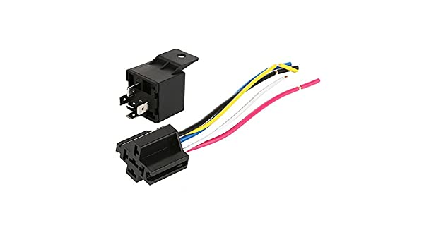 Amazon com: WarmCare 5 Pack 12V 40/30 Amp 5 Pin Relay Switch Harness