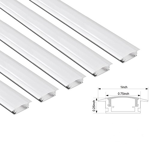 Shallow Aluminum Channel Extrusion cover U03