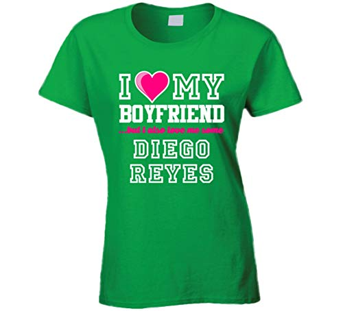 I Love My Boyfriend But I Also Love Me Some Diego Reyes Mexico Football Player T Shirt L Irish Green