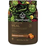 PlantFusion Complete Meal Plant Based Protein Powder, Chocolate Caramel, 1 Lb Tub, 10 Servings, 1 Count, Gluten Free, Vegan, Non-GMO, Packaging May Vary