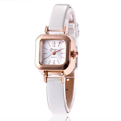 n Synthetic Leather Band Square Analog Quartz Wrist Watch Bracelet Bangle Wrist Watches (Leather Square Analog)