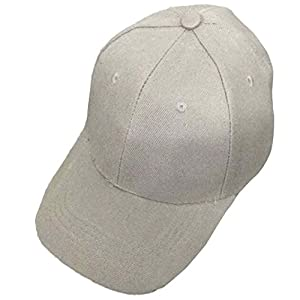 Men Women Baseball Cap, CieKen Hot Sale Cool Bboy Solid Adjustable Hiphop Snapback Flat Hat (Gray)