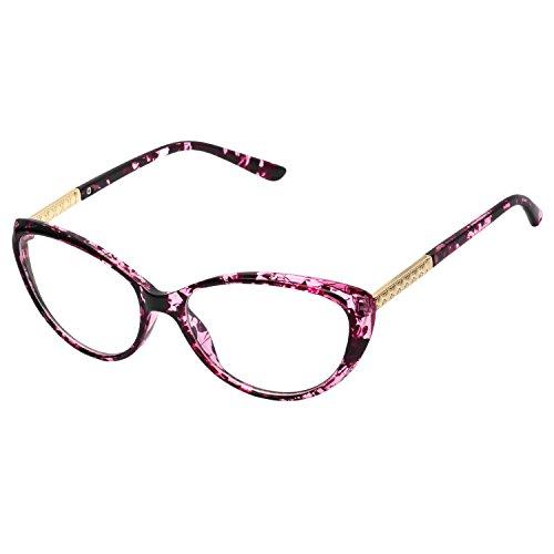 7c1f3b9a42 Retro Unisex Vue Lunettes Homme Claire EyeglassesrougeFleuri Femme Reg;  Transparent Pour Verre Cadre Mode Vintage Fashion ...