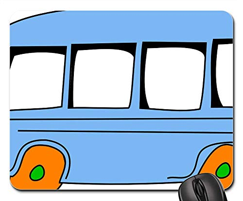 Mouse Pads - Bus Cartoon Speeding Cute Vehicle Isolated School 1