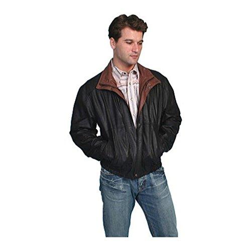 [スカーリー] メンズ ジャケット&ブルゾン Featherlite Leather Jacket w/Double Col [並行輸入品] B07DJ1LP3S XL