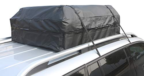 Perfection Updated Car Roof Bag Luggage Carrier Cargo Storage Roofbag for Cars w/o Racks, Attached Non-Slip Mat, Extra Rooftop Padding, Enhanced Safety Buckle by Perfection (Image #7)
