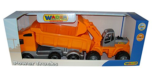 Used, Wader Quality Toys PoweTruck Dump Truck Loader Combo for sale  Delivered anywhere in USA