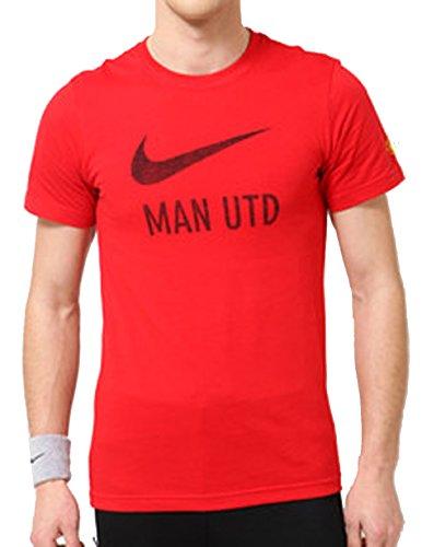 Nike Manchester United FC MAN UTD Soccer Basic Type T-Shirt (Slim Fit - Red) (Small)