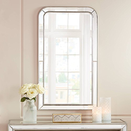 "Possini Euro Design Finnley Arch Corner 26"" x 45"" Frameless Wall Mirror"