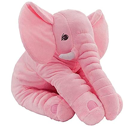 JEWH Height Large Plush Elephant Doll Toy Kids Sleeping Back Cushion Cute Stuffed Elephant Baby Accompany