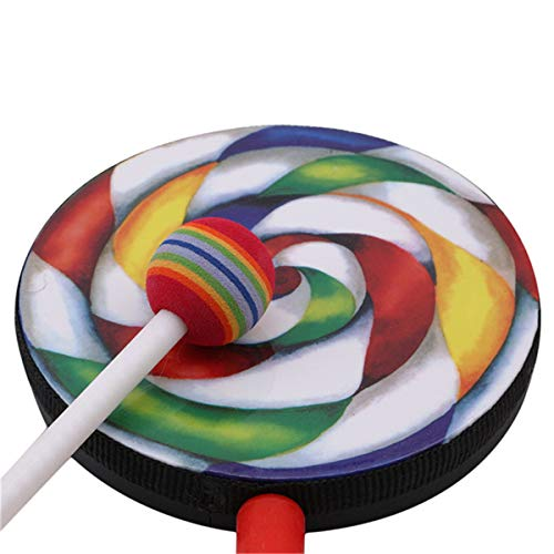 Winwinfly Percussion Instrument 4 Inch Lollipop Drums Music