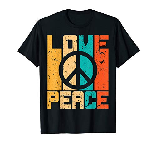 Love Peace Freedom Shirt 60s 70s Tie Hippie T-Shirt Retro