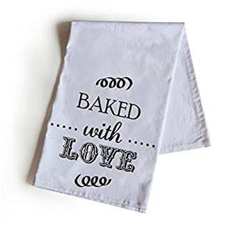 Amore Beaute hecho a mano personalizado algodón toalla de té cocida con amor té toalla 70 x 70 cm Handloom algodón, toallas de invitados de boda regalos: ...