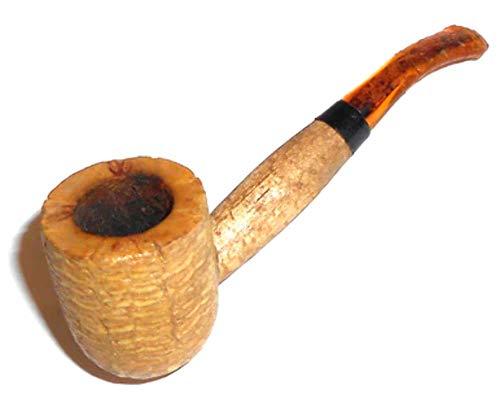 (Vintage Miniature Corn Cob Estate Tobacco Pipe)
