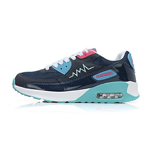 House Deporte Zapatos Elasticidad Synthetic de Alta Mujer Mesh Oscuro Peggie Azul Sn6xaBn