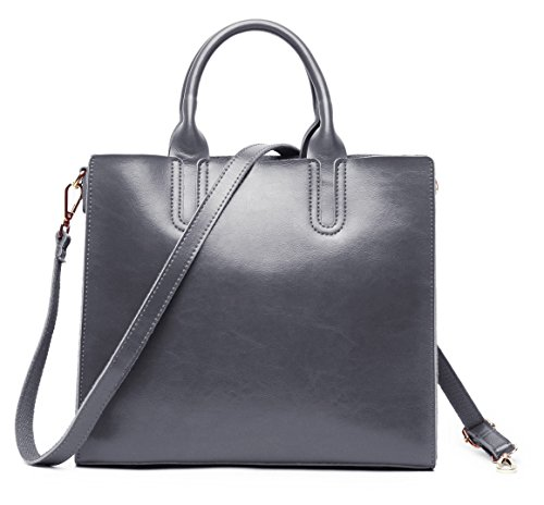 Lecxci Womans Leather Top handle Handbags