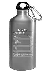 Bryce nombre hechos divertido regalo–botella de agua