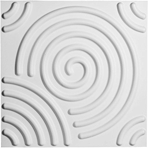 "Ekena Millwork WP20X20SPWH 19 5/8""W x 19 5/8""H Spiral EnduraWall Decorative 3D Wall Panel, White"