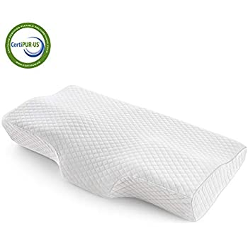 Memory Foam Pillow, Orthopedic Sleeping Pillows, Cervical Pillow for Neck Pain, Bed Pillow for Sleeping - for Side Sleepers, Back and Stomach Sleepers