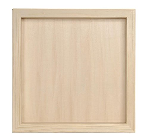 Darice-97824-Unfinished-Wood-Shadow-Box-12-12-Inch