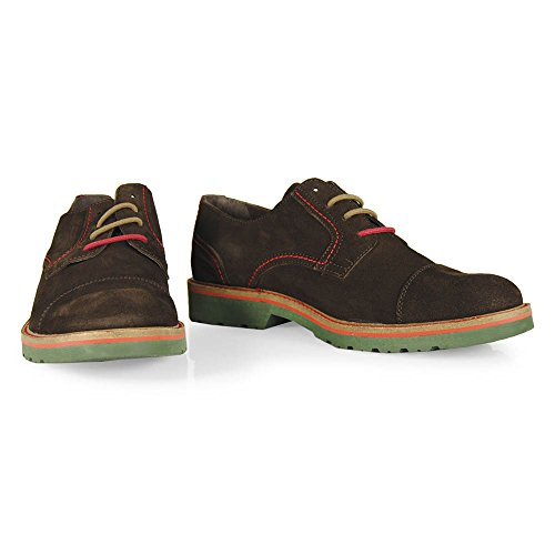 Wisconsin , Baskets pour homme Rouge Marron