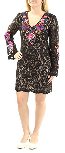 INC International Concepts Embroidered Lace Sheath Dress (Embellished Butterfly, 4) (Embellished Butterfly Dress)