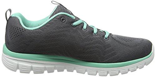 Zapatillas Skechers de para Gris Mujer Deporte Naranja 12615 511xrnq7