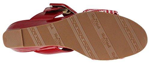 Berceaux De Marche Des Femmes, Jada Diapositive Sandale Rouge 8,5 Ww