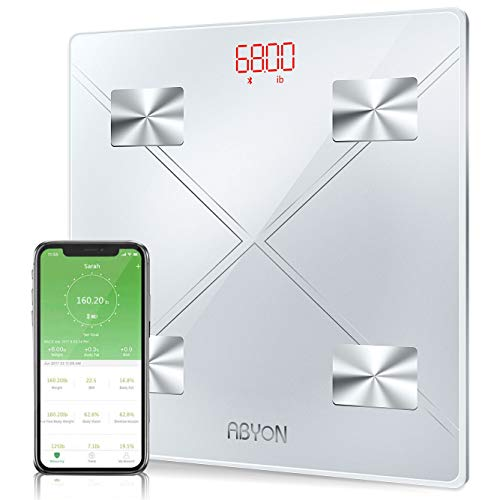 [Upgraded 2019] Bluetooth Smart Scales Digital Weight and Body Fat Bathroom Scale, Auto Monitor 13 Body Composition Analyzer with Smartphone APP - Perfect for Weight Lose Tracking or Health Management