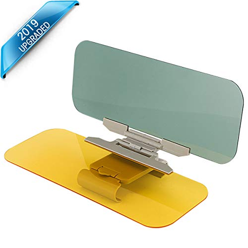 Cosyzone Car Day and Night Anti-Glare Visor Extender Anti-Glare Sun Blocker 2 in 1 Universal Car Visor Sun Blocker
