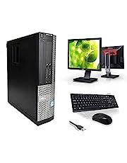 """Optiplex Dell Intel i7-2600 Quad Core 16GB RAM 256GB SSD + 1TB HDD WiFi Windows 10 Desktop PC 22"""" FCS Computer Bundle (Renewed) (Renewed)"""