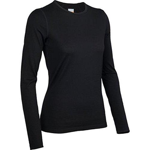 (Icebreaker Merino Women's Oasis Long Sleeve Crewe, Black, Small)