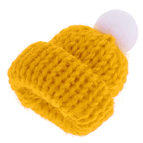(Baoblaze 1:12 Yellow Knitted Beanie Hat Cap Dolls House Miniature Clothing Accessory)
