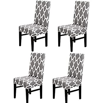 Amazon.com: MIFXIN Dining Chair Cover Set of 4 High Back ...
