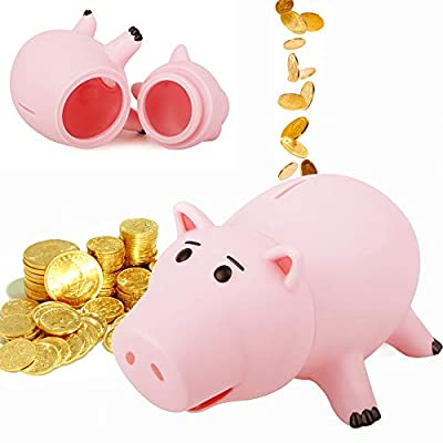 PHOCAS HairPhocas Cute Pink Pig Money Box Plastic Piggy Bank for Kid's Birthday Gift with Box: Toys & Games