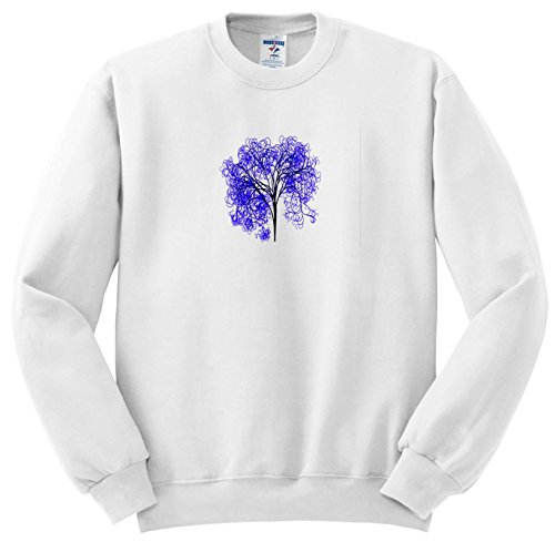 Price comparison product image 3dRose Pop Tree Designs - Image Of Purple Tree Stands Alone - Sweatshirts - Youth Sweatshirt Med(10-12) (SS_279888_11)