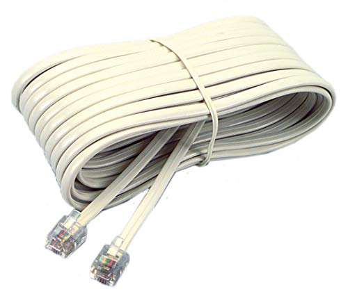 Softalk 48106 Phone Line Cord 7-Feet Ivory Landline Telephone - Cord Line Phone 7'