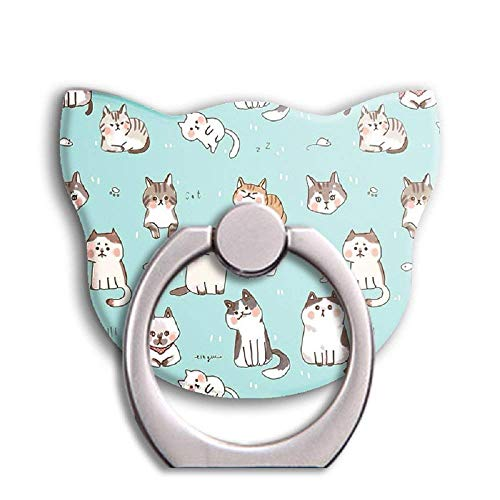 Universal Phone Ring Bracket Holder,Cat Shape Finger Grip Stand Holder Ring Car Mount Phone Ring Grip Smartphone Ring Stent Tablet (Lovely)