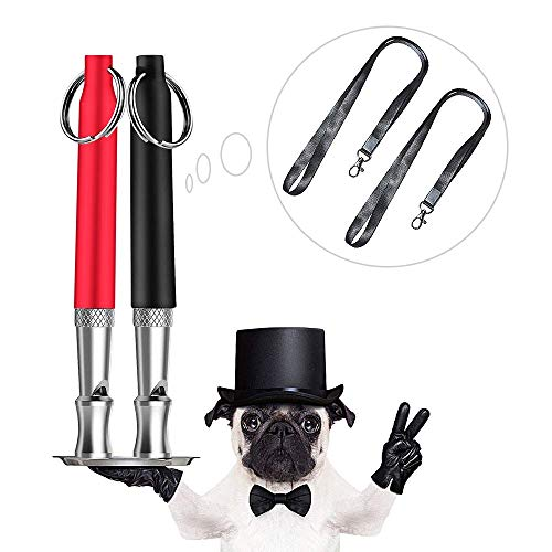 - Dog Whistle, LaviBest 2 Pack Adjustable Frequencies Ultrasonic Dog Training Whistle to Stop Barking (Black and Red)