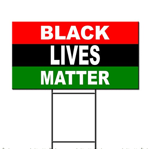 Black Lives Matter Flag Corrugated Plastic Yard Sign /FREE S