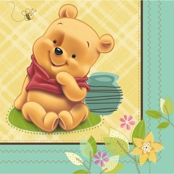 Winnie the Pooh 'Baby Pooh' Small Napkins (Winnie The Pooh Baby Shower Decorations)