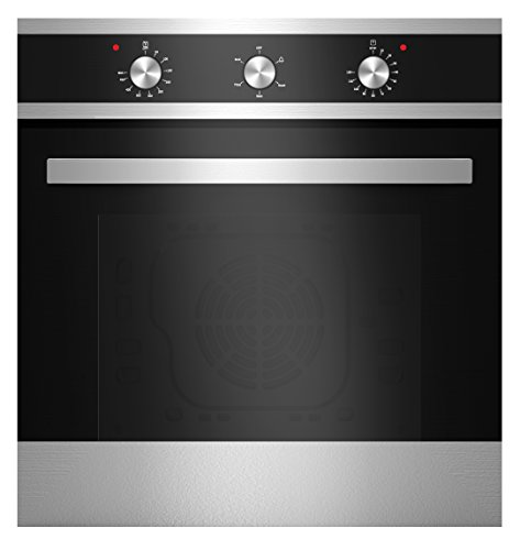 Empava KQP65A-16-220V Tempered Glass Electric Built-In Single Wall Oven, 24″ Black/Silver