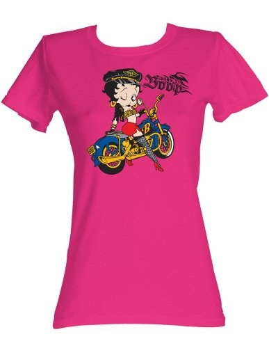 American Classics Betty Boop Born to Boop T-Shirt Hot Pink Adult Women 60% Cotton/40% Polyester Short Sleeve