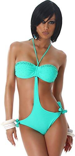 PF-Fashion - Conjunto - cuello hálter - Básico - para mujer Menta