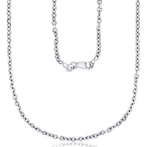 De cable de corte de diamante macizo de 1 mm a 2,20 mm de oro amarillo de 14 quilates con cierre de pinza de langosta | Collares de oro italianos | Collares de cable de oro para hombres y mujeres