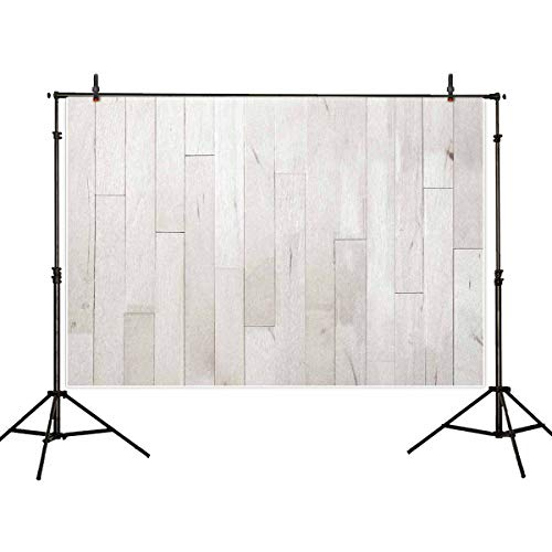 Allenjoy 5x3ft White Wood Background Wooden Wall Photo Texture Photo Backdrop for Picture Photography Props Baby Backdrop Food Photography Backdrop Article Photography Backdrop