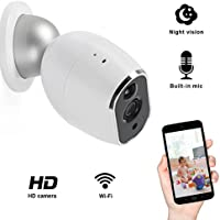 Add-on Camera, Elebor 720p 1.3MP Full HD Wire Free Security Camera Mini IP Camera for Home Surveillance Security System Baby Monitor with Night Vision (Base Station Included)