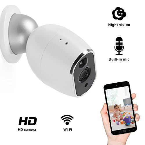 Wifi Security Camera, Elebor IP Camera HD Indoor Home surveillance Camera with Pan/Tilt Motion Detection Two-Way Audio & Night Vision (720P White,Free Gift)