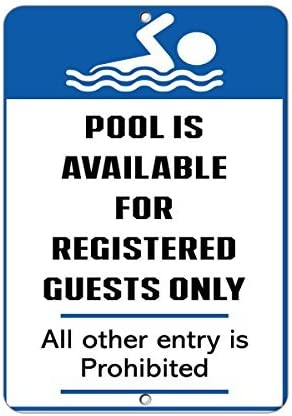 """""""No Brand Pool Is Available For Registered Guest Only"""" Aluminium-Metallschild"""