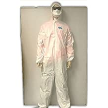 TUFF-GARD Disposable Microporous Protective Coveralls with Hood and ankles (Adult ExtraSmall)